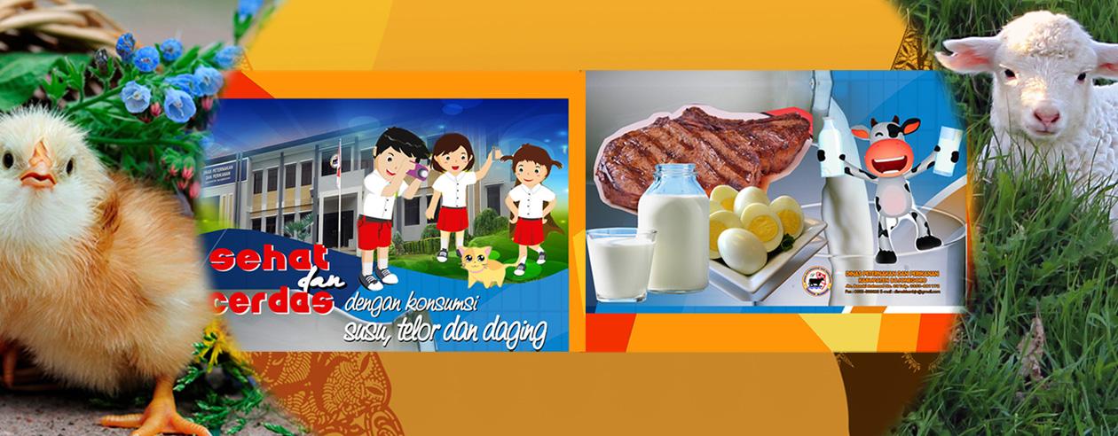 Sehat dan Cerdas<BR>dengan konsumsi Susu, telor dan daging